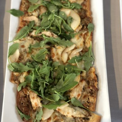 Pear and Arugula Flatbread