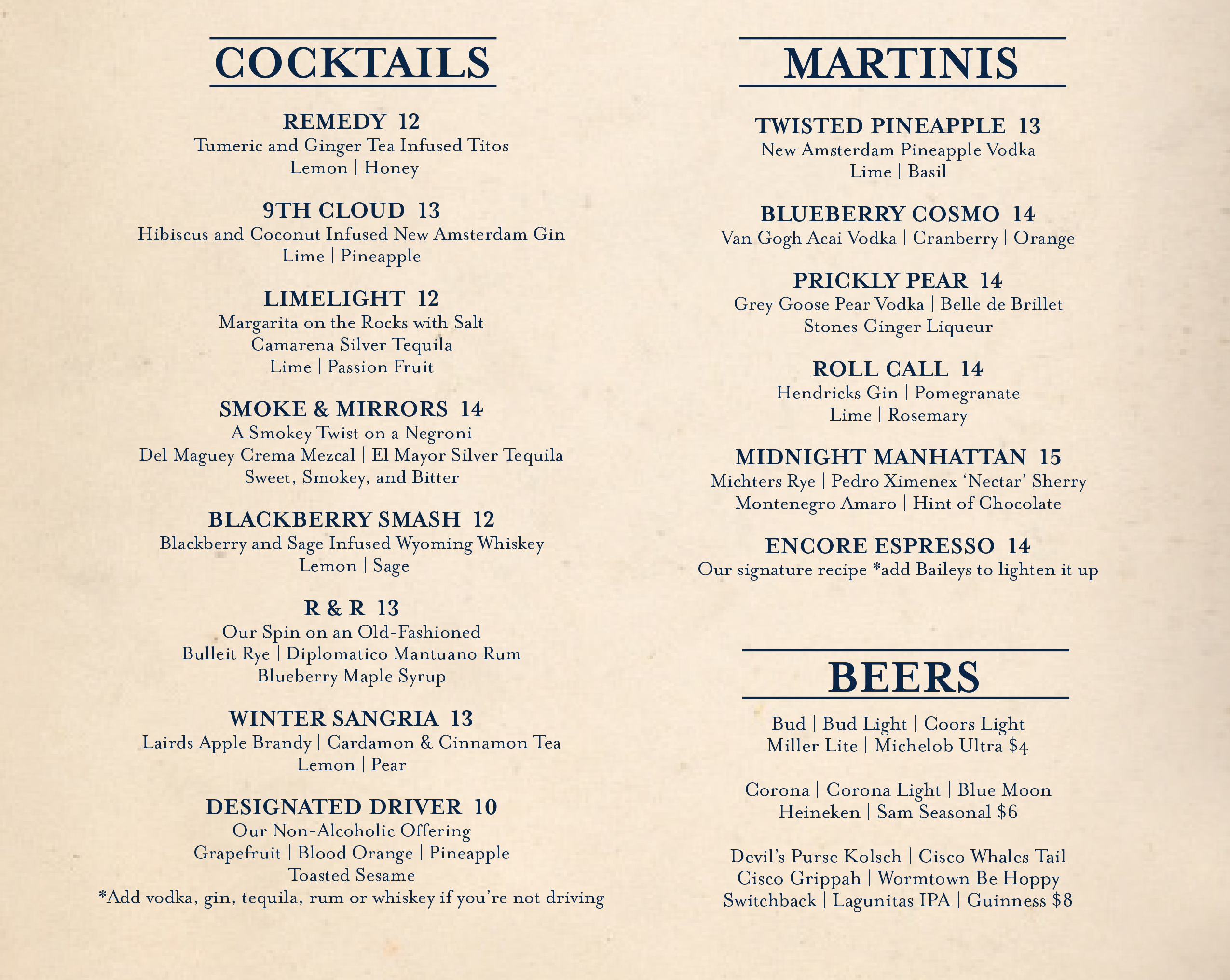 cape cod cocktails fine dining